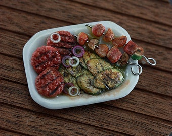 Barbecue platter - 1/12 scale Summer Barbecue Collection