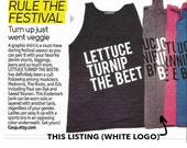 lettuce turnip the beet ® trademark brand OFFICIAL SITE - light grey tank top with white logo - seen in DJ Mag in 2015
