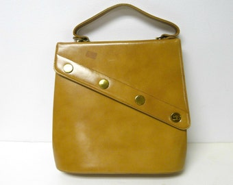 Sheldon . New York . 60s 70s faux leather top handle bag