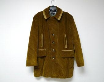 MR. MONTGOMERY . brown corduroy coat / jacket . size 44