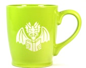 Book Dragon Mug - Light Green - microwave/dishwasher safe - cute coffee cup