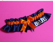 SALE 10% OFF Handmade Wedding Garter with Chicago Bears word Satin no2