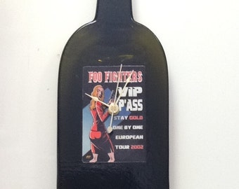 Foo Fighters genuine VIP back stage pass European tour 2002 bottle clock