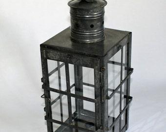 Antiqued Square Ship's Lantern