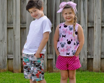SHORTS Pattern - Boys Shorts Pattern - Girls Shorts Pattern - Shorts Pattern with Pockets - PDF Shorts Pattern