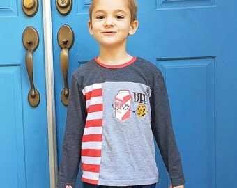 Knit T Shirt Pattern - Long and Short Sleeves - upcycle option - Children 12 months to 12 years