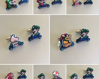 mario kart cufflinks - pick your favorite character