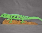 NEW Gecko Lizard Puzzle Wooden Toy Hand  Cut with Scroll Saw