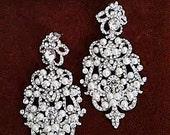 Bridal Statement Earrings Victorian Style Chandelier Wedding Earrings Ivory Pearl Large Crystal Bridal Jewelry Bridal Earrings Pearl Earring