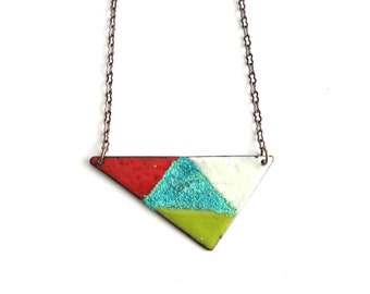 Enamel and Patina Necklace