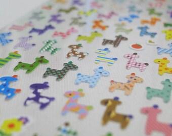 Cute Korean Stickers - Animal Friends - Colorful Giraffe (1324)