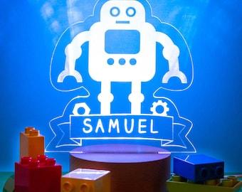 PRE-ORDER Personalised Robot Children's Night Light