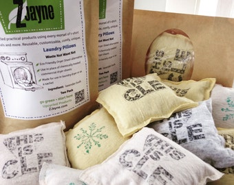 Dryer Pillow Sheets Bare Bones 2 pack 100% upcycled from tShirt materials Organic Lavender