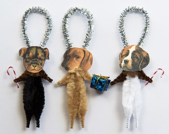 Dog Holiday Ornaments - Dog Christmas Tree Ornaments