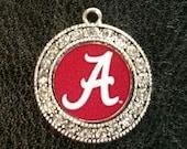Alabama Crystal Circle Charm