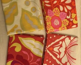 Free Spirit Fabrics Fat Quarter Set of 4 TAZO by Dena