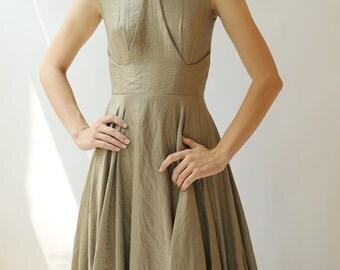 Sample SALE - Gold lurex Evening Gown