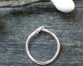 20% OFF TODAY - Sweet Tiny Nose Ring - sterling silver nose ring