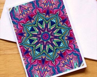 Marbled Paper Kaleidoscope Design Notebook no. 1
