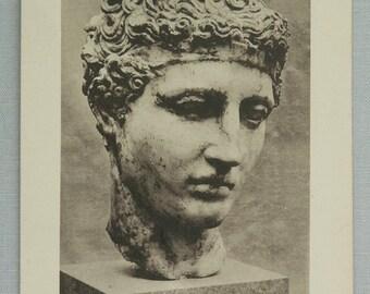 Vintage Unused Postcard The Head of an Athlete  Greek  V Century B.C.