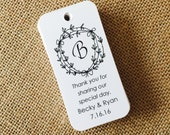 Custom Wedding Monogram Tags, Product Tags, Personalized Tags, Wedding Tags, Product Tags, Gift Tags, Personalized Tags - Set of 20