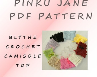 New PDF Blythe Camisole Crochet Pattern Revised Downloadable
