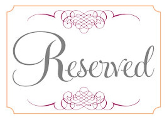 reserved for shelly