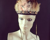 Feather Beaded Head Dress Feather Crown Head Piece Festival Coachella