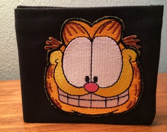 Garfield handmade black canvas lightweight sturdy wallet