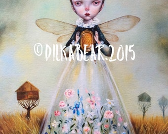 BEE QUEEN limited edition 22/50 giclee print