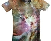 Orion Nebula Men's Tee, Cool Outer Space T-Shirt, Cosmos Graphic Tee, Stars, Planet, Galactic Science Crewnack, S-2XL