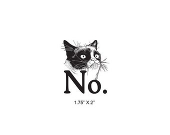 Clearance Grumpy Cat Says No Rubber Stamp 499