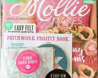 Mollie Makes Magazine - Spring Blooms - Issue 65 - With Patchwork Project Book - 8.00 Dollars