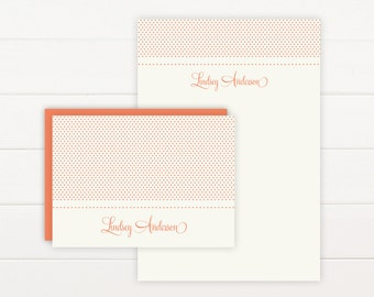 SWEETHEART Personalized Stationery + Notepad Set, Personalized Notepad and Personalized Stationary
