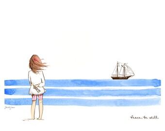 Children's Wall Art Print - Peace Be Still
