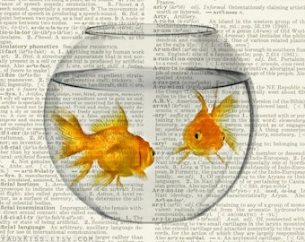 goldfish bowl dictionary print