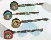Lovely Matryoshka Russian Dolls Bobby Pins, Russian Doll Hair Accessories, Doll Bobby Pins, Cute Hair Accessories, Nesting Doll Hair Pins