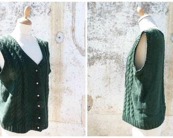 Vintage 1970/70s Tyrol trachten Folk  knitted vest cardigan dirndl