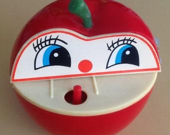 Vinatge Apple Bank Wind Up Toy