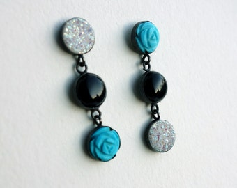 Sale- Trinket Dangles- Onyx, Turquoise, and Druzy Dangles
