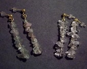 Fluorite and Icicle Drop Earrings - Reserved for paulabornstein4