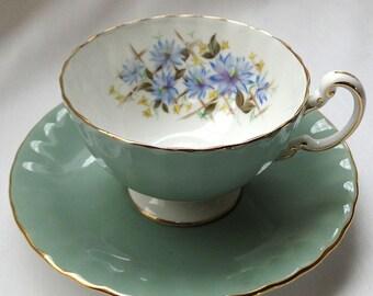 Vintage Aynsley teacup Sage