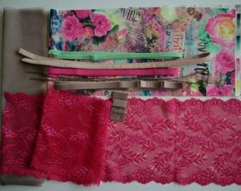 DIY BRA Kit Pink Roses by Merckwaerdigh
