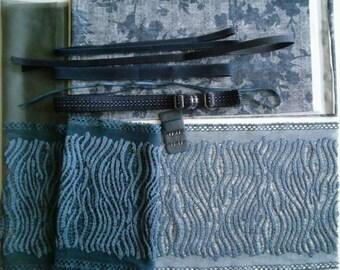 DIY BRA Kit Jeans Flowers by Merckwaerdigh