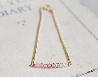 daphne - pink ombré beaded bracelet
