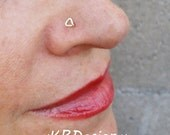 Triangle 14K Yellow, Rose or White Gold Filled Nose Stud / Free US Shipping