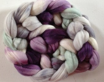Merino Wool Roving spinning or felting  3.5ozs  CTAS SAL Winter Sparrow Melange
