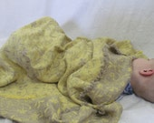 Toddler Baby Blanket - Linen Nursery Bedding; Twin Bed, Flax Lap Blanket, Fringed Edges, Summer Blanket - 40 x 54 inches