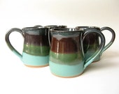 Stoneware Mugs Set of 4