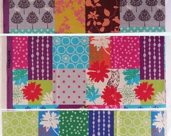 Echino Fabric by Estuko Furuya - 3 Fat Eighths - Bundle 7